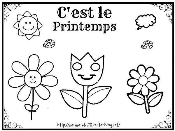 Coloriages Printemps