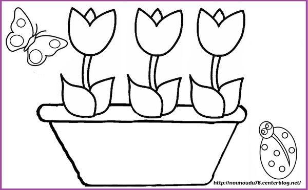 Coloriages printemps - Fleur en coloriage ...