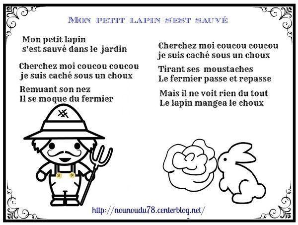 Comptine Mon Petit Lapin S Est Sauvé
