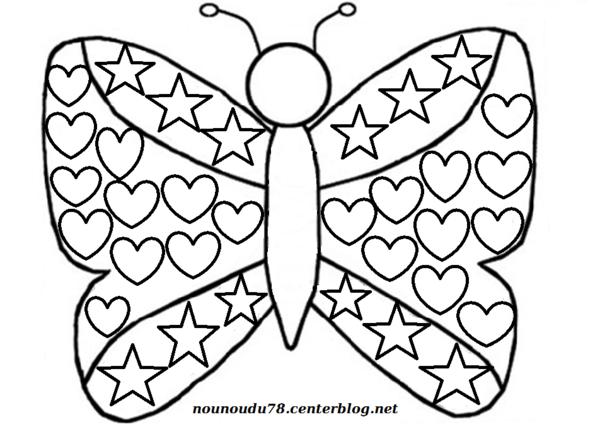 Activite ete - Coloriage de papillon ...