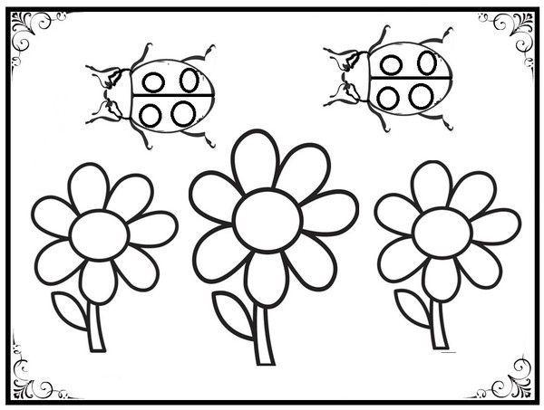 Coloriage marguerites - Dessin le printemps ...