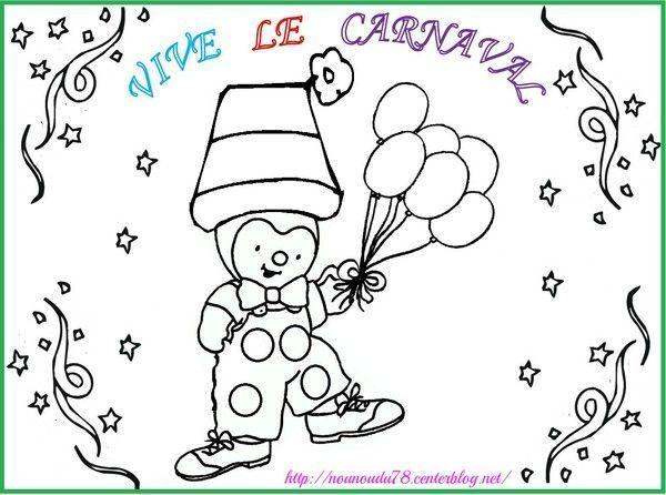 Coloriages carnaval - Tchoupi fait la fete ...