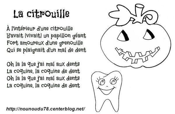 Activite halloween page 2 for Par la fenetre ouverte comptine