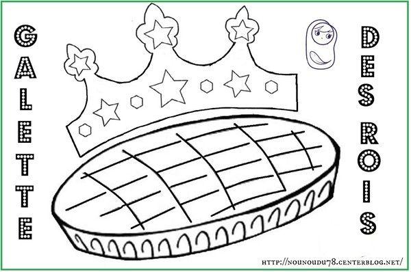 Coloriages galette des rois - Dessin sur galette ...