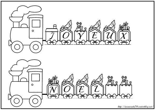 Coloriages noel - Train coloriage ...