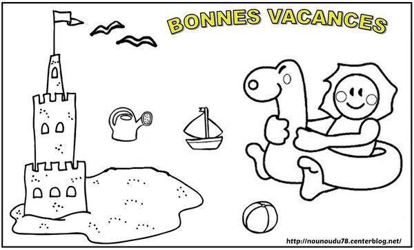 Coloriages ete - Coloriage vive les vacances ...