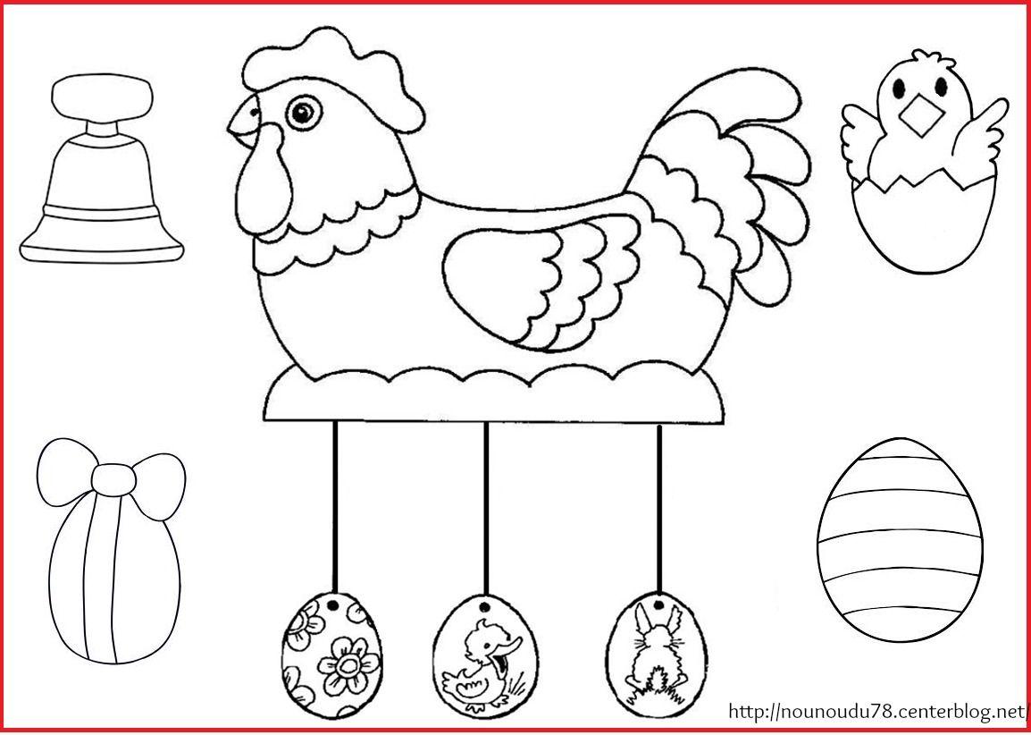 Coloriages paques - Coloriage poules ...