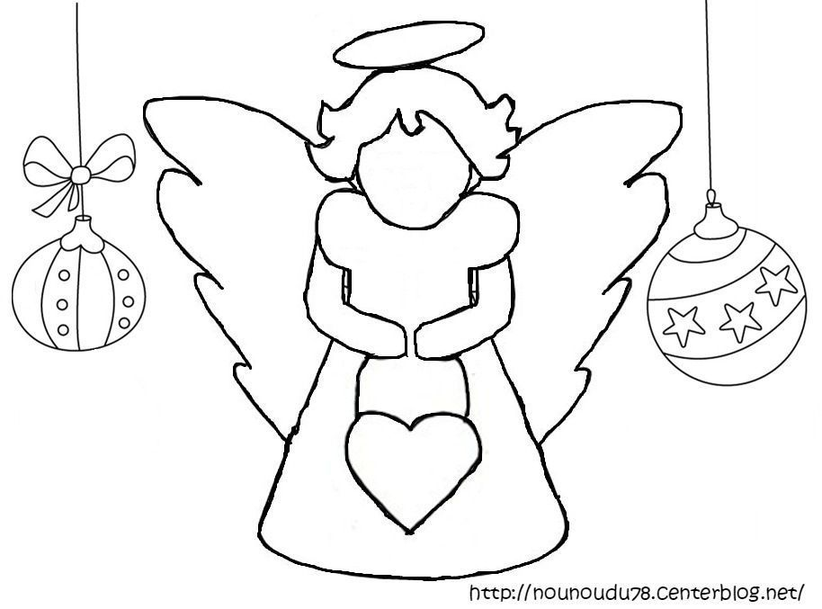 Coloriages noel - Coloriage ange ...