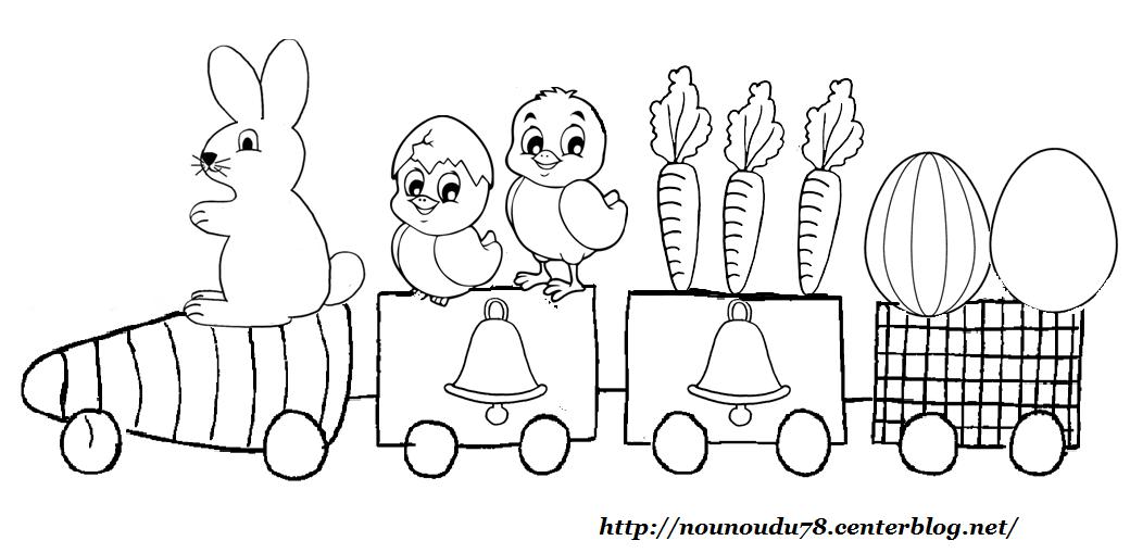 Coloriages paques - Train coloriage ...