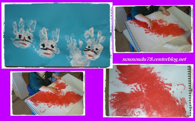 Activit Peinture Avec Empreinte De Mains De Cl Ment